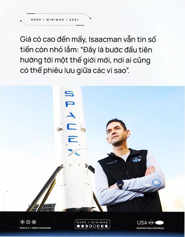 Vị tỷ phú chỉ huy nhóm phi hành gia dân dụng đầu tiên của nhân loại: bỏ học để lập nghiệp, bỏ việc để học lái máy bay, được Elon Musk ca ngợi - Ảnh 2.