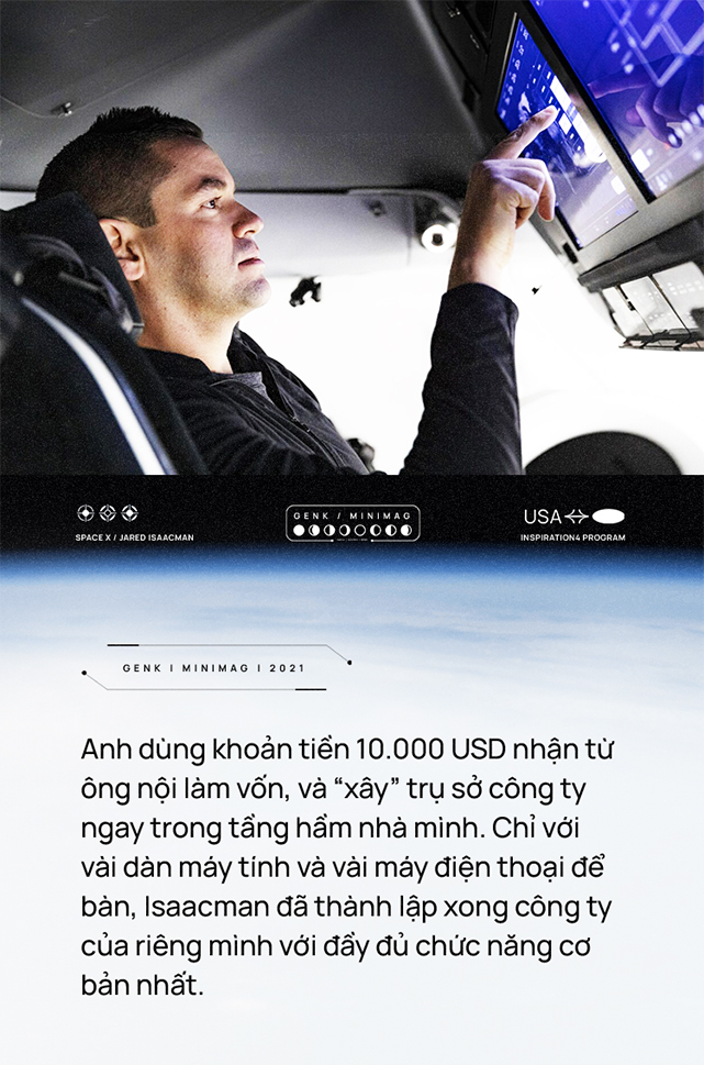 Vị tỷ phú chỉ huy nhóm phi hành gia dân dụng đầu tiên của nhân loại: bỏ học để lập nghiệp, bỏ việc để học lái máy bay, được Elon Musk ca ngợi - Ảnh 3.