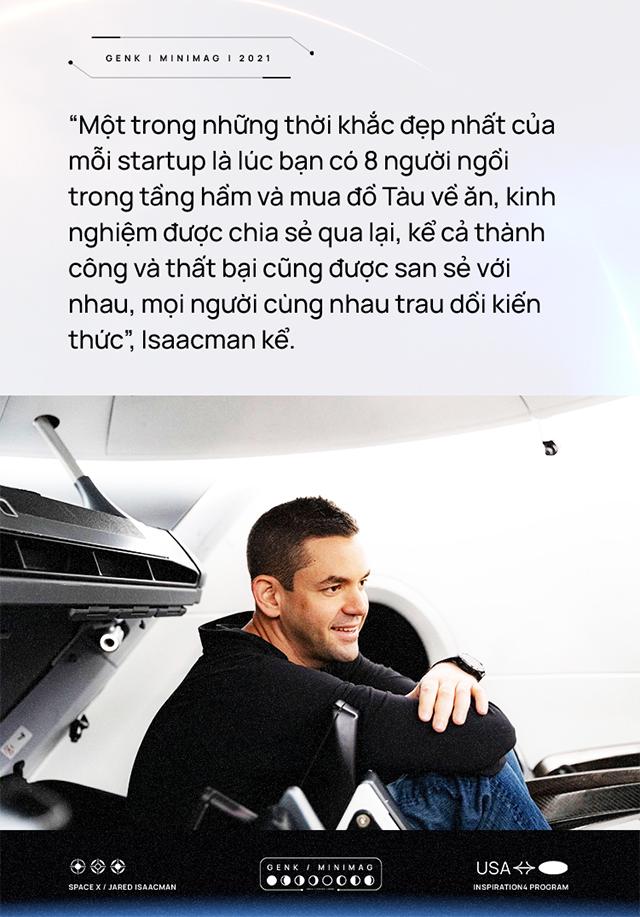 Vị tỷ phú chỉ huy nhóm phi hành gia dân dụng đầu tiên của nhân loại: bỏ học để lập nghiệp, bỏ việc để học lái máy bay, được Elon Musk ca ngợi - Ảnh 4.