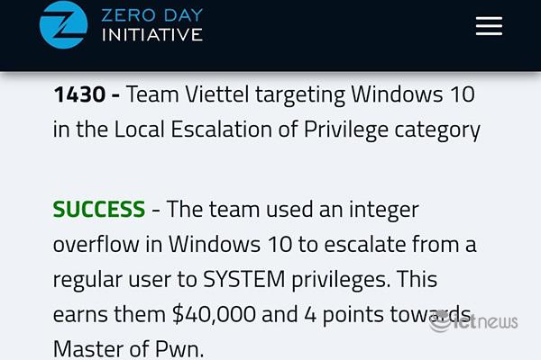 Tìm ra lỗ hổng bảo mật trong 5 phút, 2 chuyên gia Viettel chiến thắng cuộc thi an ninh mạng lớn nhất thế giới - Ảnh 2.