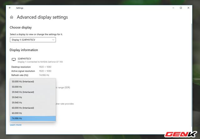 """Nguyên nhân và cách khắc phục hiện tượng """"xé hình"""" trên màn hình của Windows 10 - Ảnh 10."""