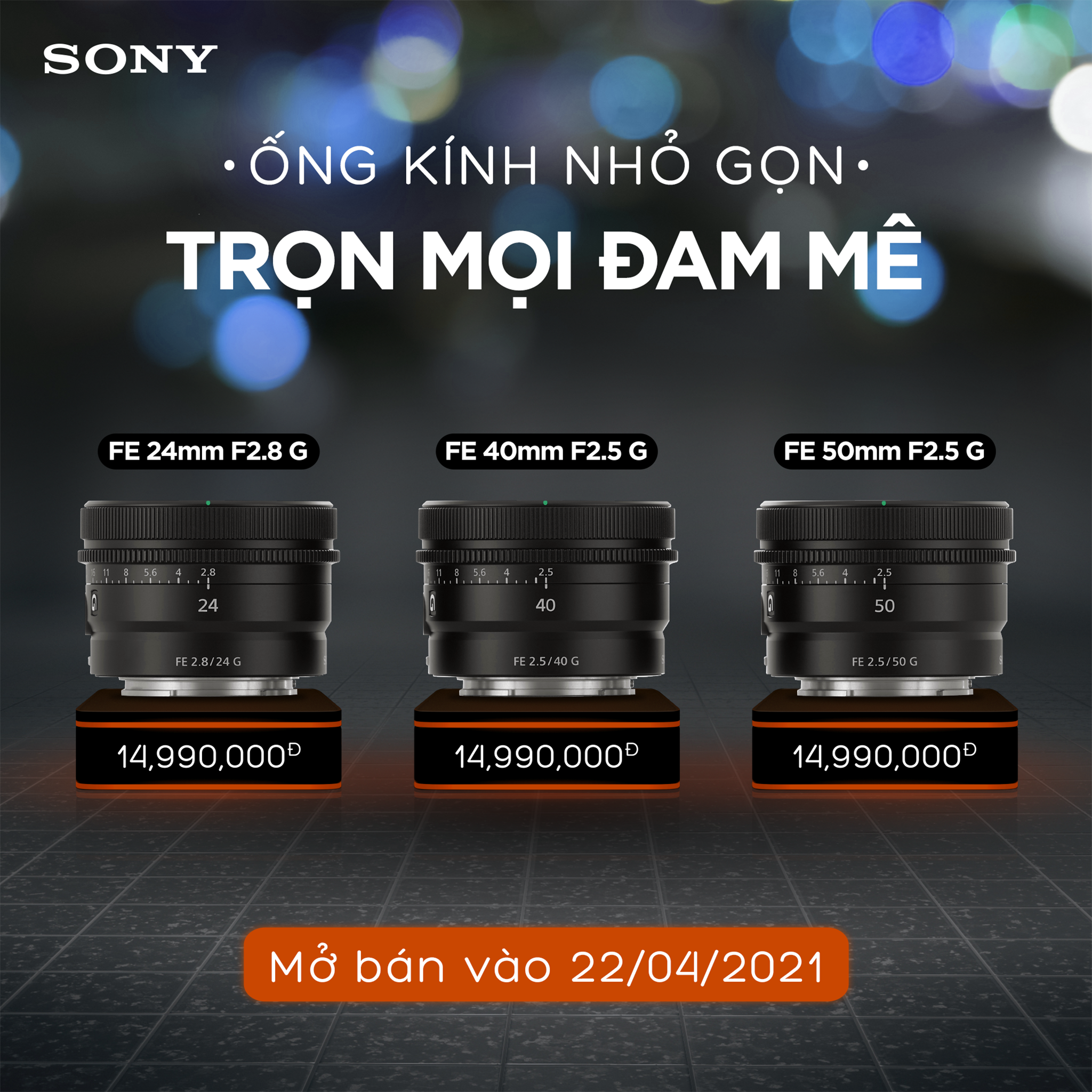 Sony ra mắt ống kính FE 50mm F1.2 G Master và 3 ống kính dòng G nhỏ gọn nhẹ mới, giá 49.99/14.99 triệu đồng - Ảnh 14.