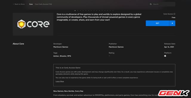 Cách cài đặt Core, vũ trụ game đa chức năng mới của Epic - Ảnh 2.