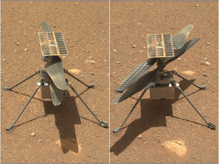 Trực thăng NASA vừa lập kỳ tích với chuyến bay lịch sử đầu tiên của loài người trên Sao Hỏa - Ảnh 2.