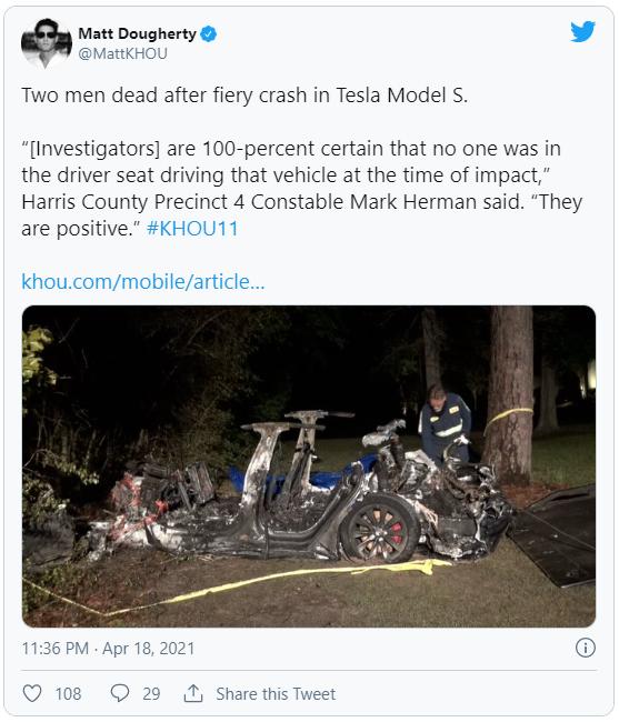 Xe Tesla không người lái gặp tai nạn thảm khốc khiến 2 người thiệt mạng - Ảnh 2.