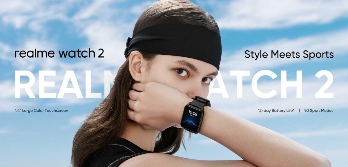 Realme Watch 2 ra mắt: Thiết kế giống Apple Watch, có đo SpO2, chống nước IP68, pin 12 ngày, giá 1.29 triệu đồng - Ảnh 1.