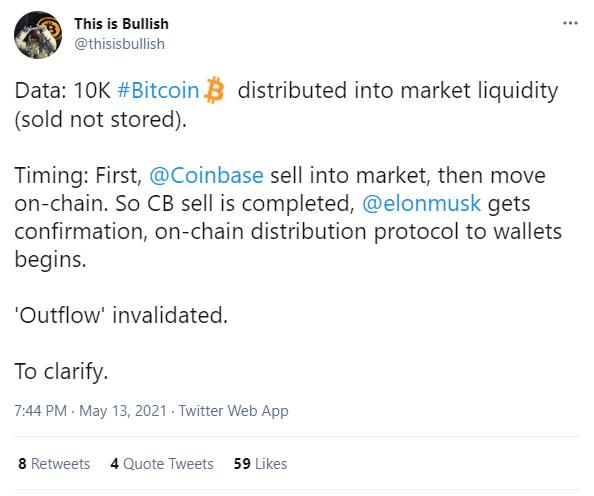 Người dùng Twitter phát hiện ra Elon Musk mua vào 10 nghìn Bitcoin ngay lúc ra tweet dìm giá - Ảnh 4.