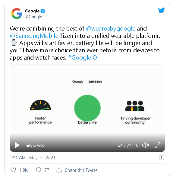 Google và Samsung hợp nhất Wear OS và Tizen - Ảnh 2.
