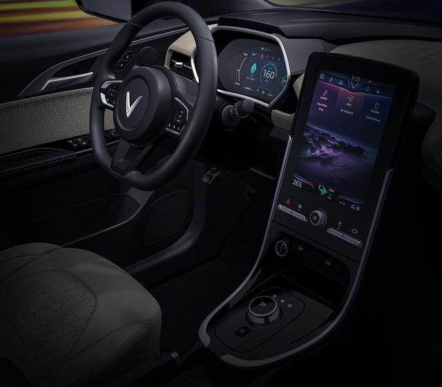Cận cảnh nội thất trong ô tô điện VinFast VF e34 và hệ thống điều hòa lọc cả bụi mịn - Ảnh 5.