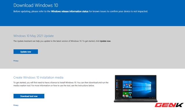 Microsoft đã bắt đầu phát hành Windows 10 21H1, và đây là những cách tải bộ cài đặt vào USB - Ảnh 2.