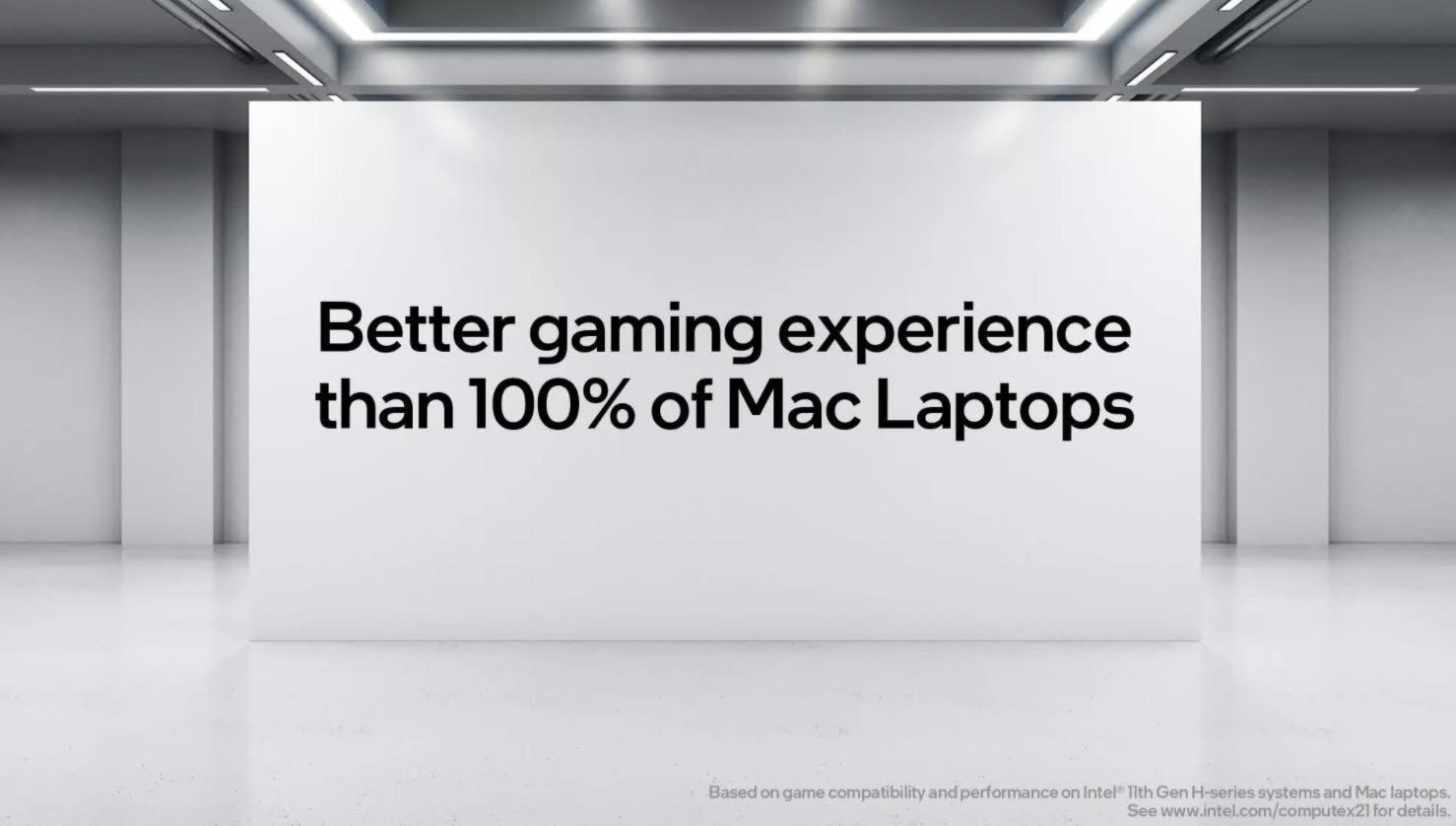 Intel tuyên bố chip của họ cùng với Windows cho 100% MacBook trên thị trường hít bụi khi nói để khả năng chơi game - Ảnh 1.