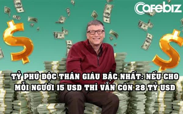 Tuổi 65 của Bill Gates: Độc thân nhiều tiền, nếu xài 1 triệu USD/ngày thì phải mất 400 năm mới tiêu hết tài sản - Ảnh 1.