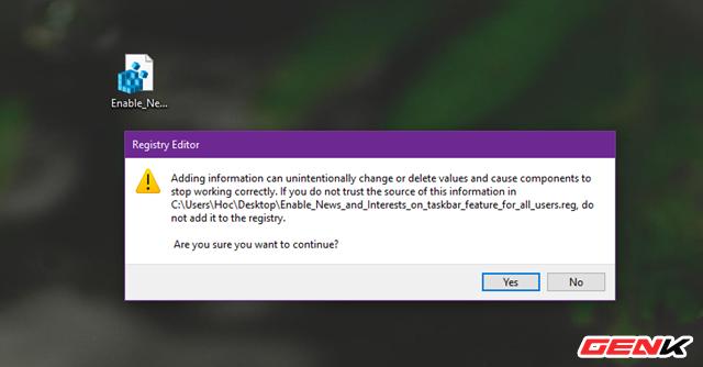 Cách kích hoạt và vô hiệu hoá tính năng News and Interests tự nhiên xuất hiện trên Windows 10 - Ảnh 10.