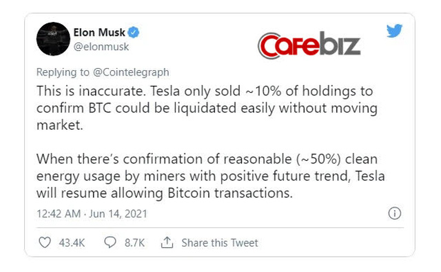 Elon Musk lại vừa kéo giá Bitcoin lên gần 40.000 USD chỉ sau 1 dòng tweet - Ảnh 2.