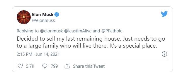 Elon Musk rao bán căn nhà cuối cùng, quyết sống đời ở thuê - Ảnh 2.