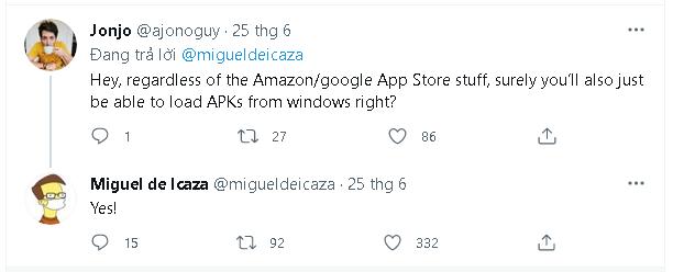 Kỹ sư Microsoft xác nhận bạn có thể tải và cài đặt file Android APK trên Windows 11 - Ảnh 2.