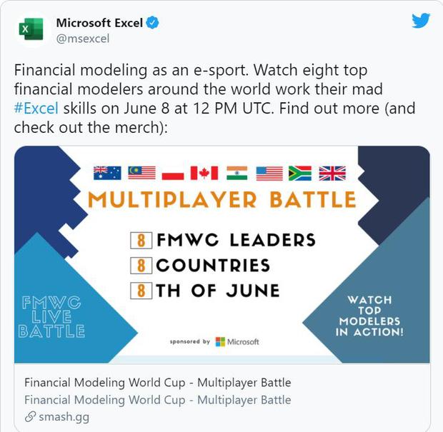 Chuyện thật như đùa: Phần mềm Microsoft Excel trở thành bộ môn eSports được đem ra tranh tài trên toàn cầu - Ảnh 1.