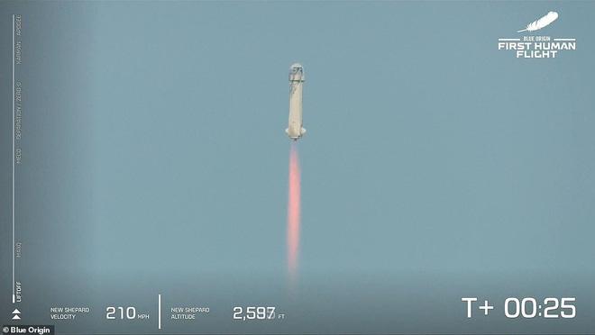 Jeff Bezos vừa tiết lộ cái giá cắt cổ cho chuyến bay lên vũ trụ 10 phút: Mỗi phút đốt 550 triệu USD! - Ảnh 3.