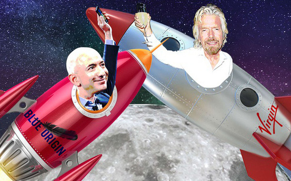 Cuộc đối đầu của giới siêu giàu: Tỷ phú Richard Branson muốn vượt mặt Jeff Bezos trong cuộc đua không gian - Ảnh 1.