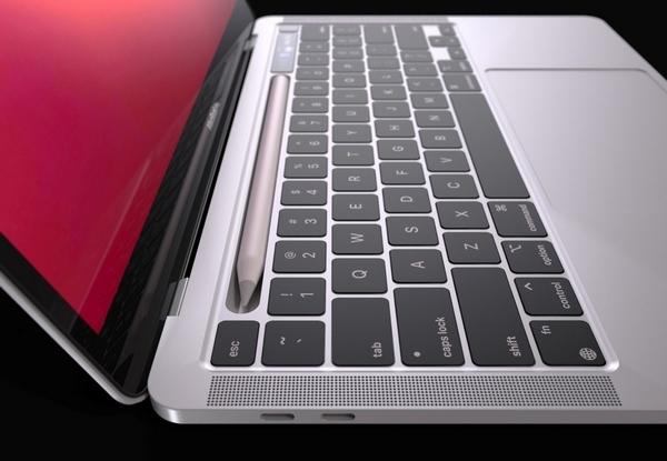 Lộ diện mô hình MacBook Pro với khay chứa bút cảm ứng - Ảnh 6.