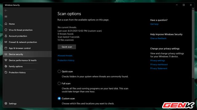 """Cách kiểm tra mức độ """"sạch của tập tin trước khi sử dụng trên máy tính Windows - Ảnh 4."""