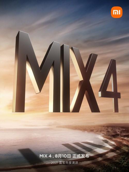 Xiaomi xác nhận ra mắt Mi MIX 4 vào ngày 10/8 - Ảnh 1.