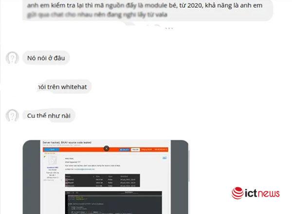 Bkav nói gì trước thông tin log chat nội bộ của công ty bị lộ? - Ảnh 1.