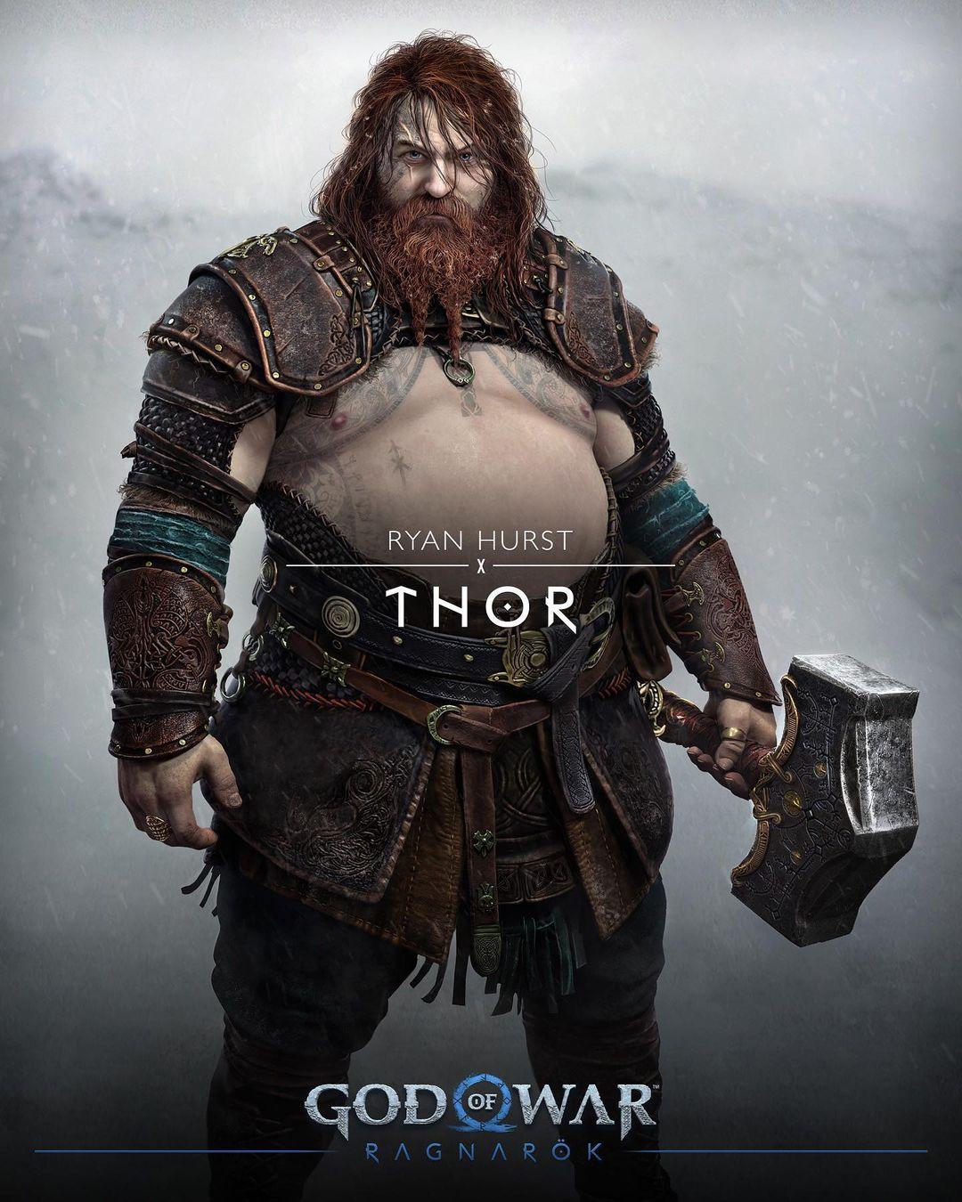 Mời bạn chiêm ngưỡng bụng bia của Thor trong God of War Ragnarök - Ảnh 1.
