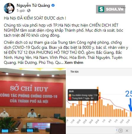 CEO Nguyễn Tử Quảng thông báo tin vui, bày cách giúp Hà Nội quét các F0 còn lại - Ảnh 2.