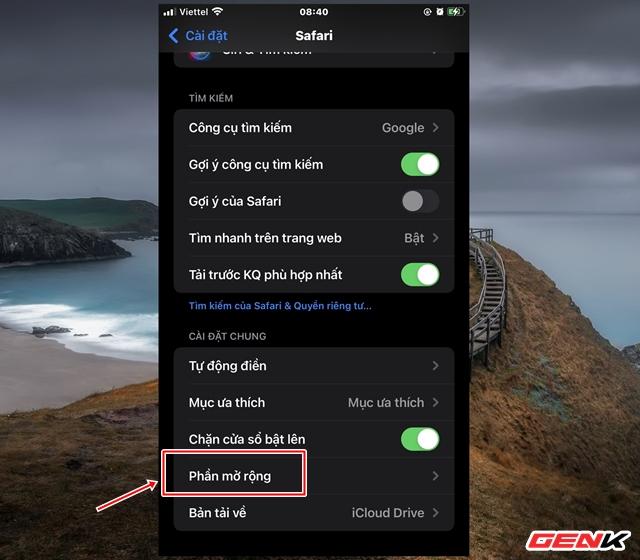 Cách cài đặt thêm tiện ích mở rộng cho Safari trên iOS 15 - Ảnh 2.
