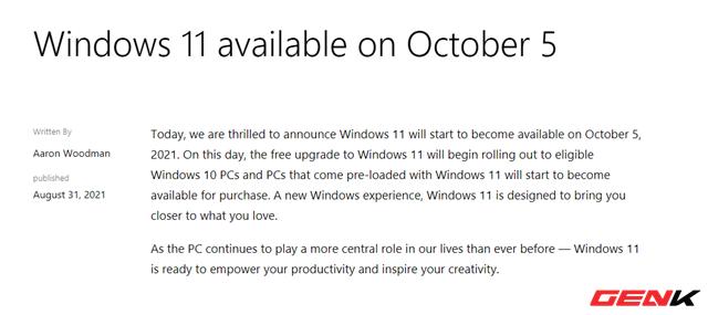 Những điều bạn cần biết và chuẩn bị khi Windows 11 ra mắt chính thức - Ảnh 1.