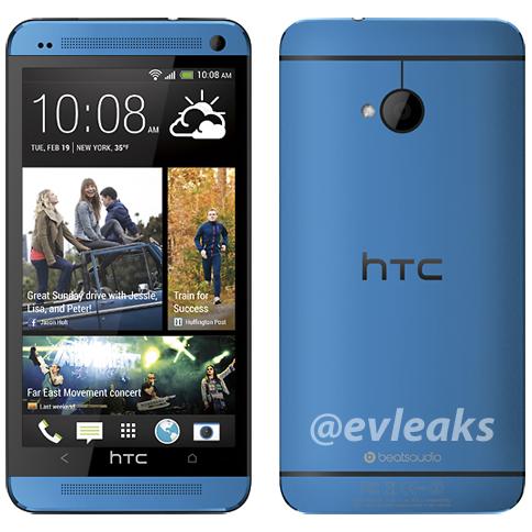HTC One màu xanh lơ.