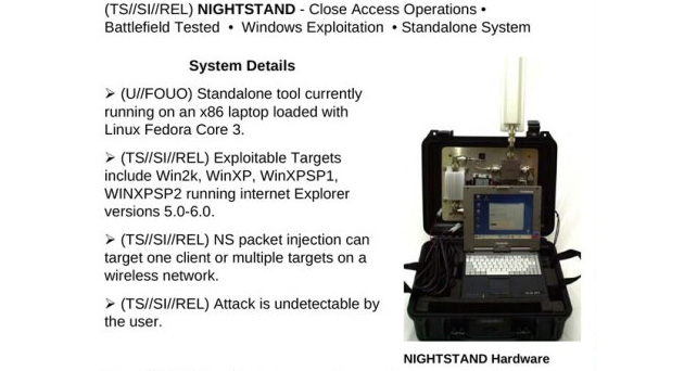 NSA Nightstand wardriving device