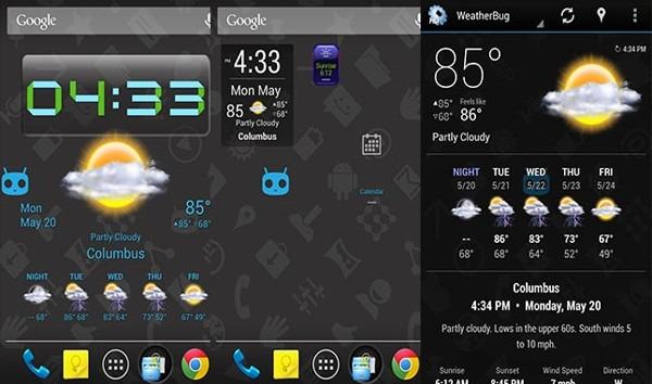 Top 5 widget trên Android 5