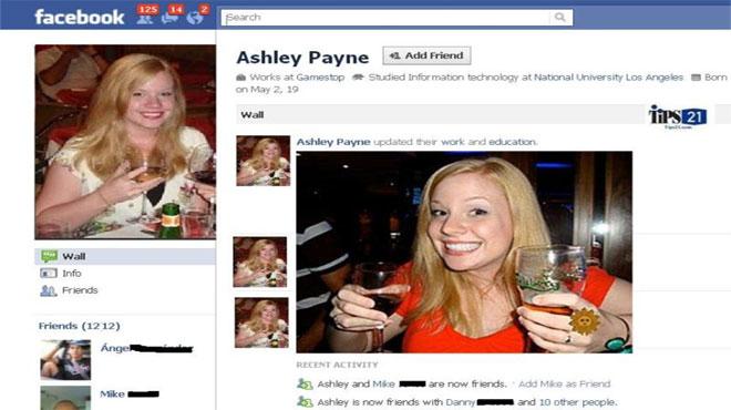 Cô giáo Ashley Payne bị mất việc vì đăng ảnh lên Facebook. Ảnh: Daily Mail