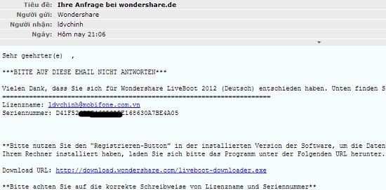 [Tặng Key] Miễn phí bản quyền Wondershare Live Boot 2012