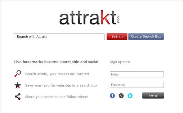Attrakt mang đến một mô hình tìm kiếm thông minh và mang tính xã hội cao.