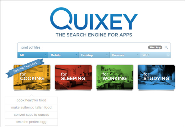 Tìm kiếm ứng dụng phù hợp với nhu cầu nhanh chóng cùng Quixey.
