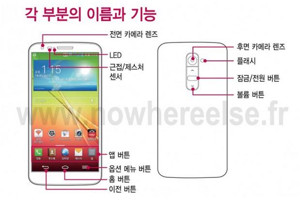 Leaked manual for LG G2 reveals rear controls and general specs, no fingerprint reader