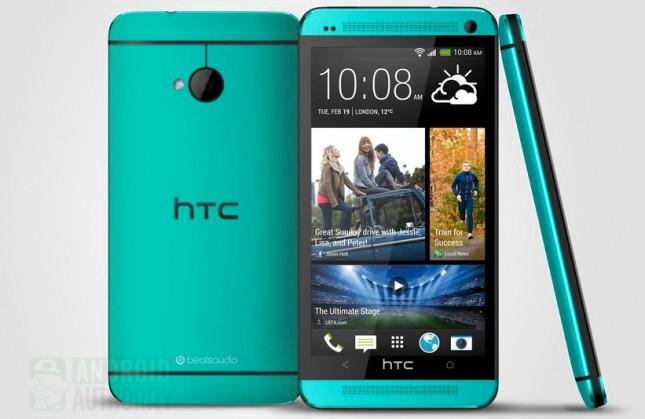 Ảnh rò rỉ HTC One màu xanh lơ.