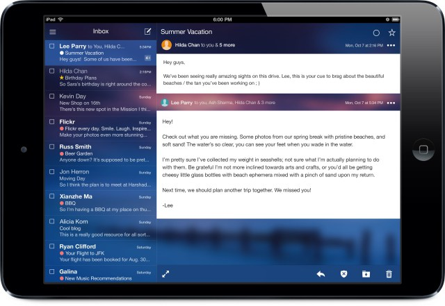 Mỹ - Tablet - iPad Mini - Hộp thư đến và Conversation View