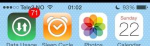 Thông báo của từng ứng dụng hiển thị chèn lên cả thanh status bar trong iOS 7.
