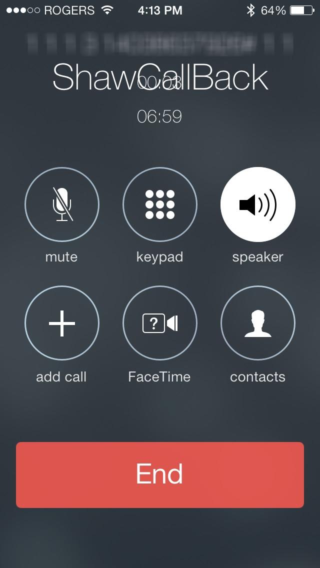 Lại một lỗi hiển thị khác ở ứng dụng gọi điện trên iOS 7.