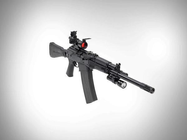 Súng săn quân sự KS-K có hình dạng tương tự như súng trường tấn công Kalashnikov. Loại súng này được thiết giảm thiểu các bộ phận và dễ sử dụng cũng như bảo dưỡng.