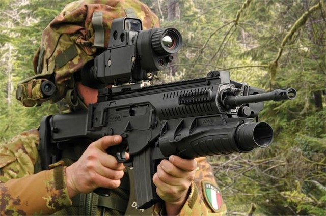 Súng ARX-160 và súng phóng lựu kẹp nòng GLX-160