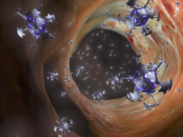 Những tinh thể nano được truyền vào mạch máu