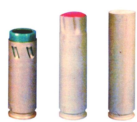 Các đầu đạn của RGS-33, từ trái sang phải là: GS-33, GSZ-33 và EG-33