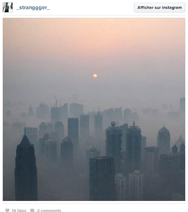 Từ vũ trụ, thấy rõ nhất ở Trung Quốc là khói độc, không phải là Vạn Lý Trường Thành (1)