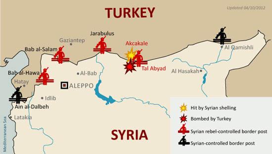 Các nước láng giềng với Syria
