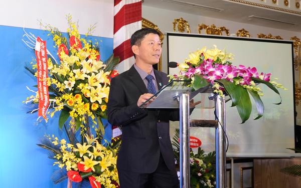 Ông Hoàng Tùng Sơn - chủ tịch Công ty VGG chào mừng các đại biểu đến với buổi lễ
